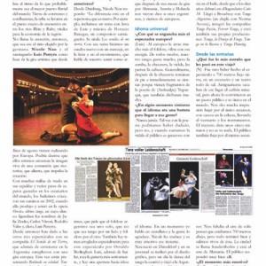 Reportaje de tres páginas: IMPERIO, Argentinien