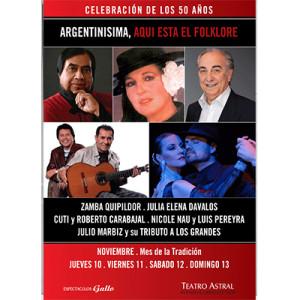50 years Argentinisima, 2011