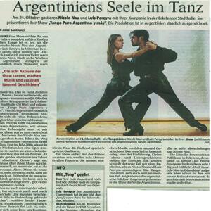 Argentiniens Seele im Tanz. Mit Tony geehrt, 2008
