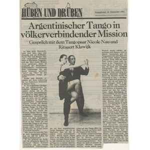 Argentine Tango in connecting peoples Mision