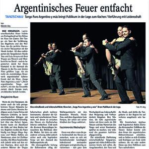 Argentinisches Feuer entfacht, frenetischer Applaus, begeisterte Rufe, 2012