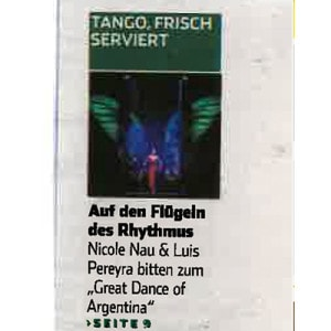 On the wings of rhythm, Hamburger Tageblatt, 2014