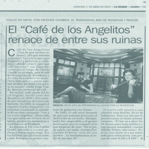 Cafe de los Angelitos, La Prensa, 2006