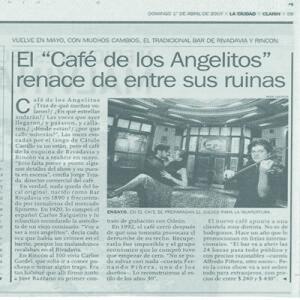 El Cafe de los Angelitos renace entre sus ruinas, La Prensa 2006