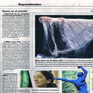 Cafe de los Angelitos (NNLP) und Pina Bausch im Beitrag von La Nacion, 2007
