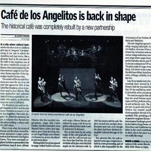 Cafe de los Angelitos wieder in Form, Buenos Aires Herald, 2007