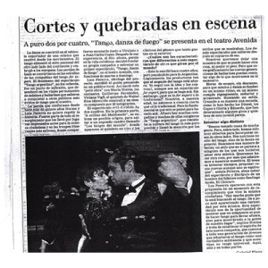 Cortes and Quebradas in scene, 1998