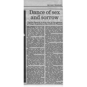 Dance of Sex and Sorrow, The Daily Telegraph