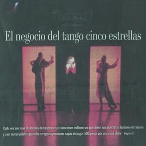 Das 5 Sterne Geschäft mit dem Tango, La Nacion, 2007