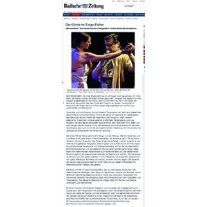 Das Gloria im Tango Fieber. Furiose Show, die mit standing Ovation gefeiert wird. 2013