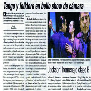 Das Noble, die Authetizität und der Professionalismus unterscheidet sie von allen anderen, La Prensa 2008
