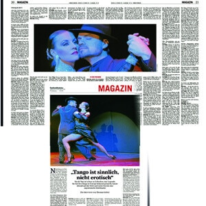 El tango es sensual, no erótico, Frankfurter Rundschau 2013