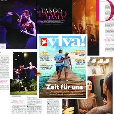El Baile domina su vida - reportaje de 4 páginas, VIVA STERN 2, 2014
