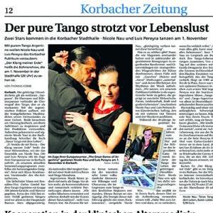 Der pure Tango strotzt vor Lebenslust, 2013
