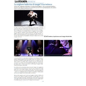 The best Tangodancer- A German !, 2015 La Stampa