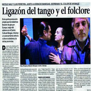 Die fünfte ihrer erfolgreichen Produktionen, La Prensa 2008, Vorankündigung