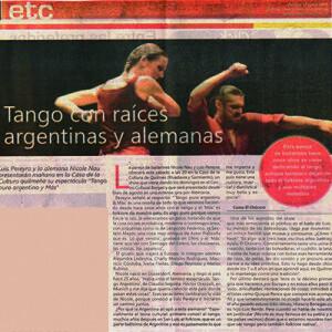 Dieses Paar arbeitet mit Tango und er kompletten Musik Argentiniens, 2011