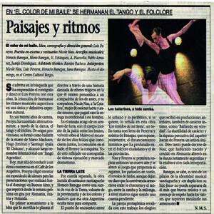 Dieses Paar verdient alles Lob, dass es bisher bekommen hat. Und mehr. La Prensa, 2008