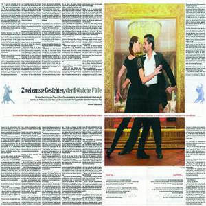 Entrevista retrato, doble página en Berliner Zeitung