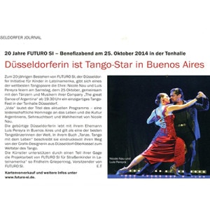 From Düsseldorf's famous tango dancer in Argentina, 2014 D Journal