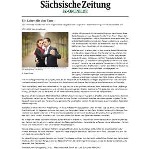 Ein Leben für den Tanz, Sächsische Zeitung 2014