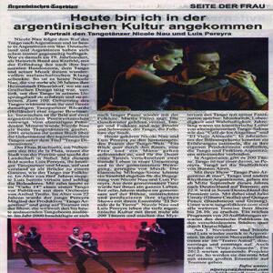 Ein Portrait, Argentinisches Tageblatt 2011