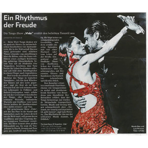 A rhythm of joy. Vida tells the newly popular dance, Hamburger Abendblatt, 2014