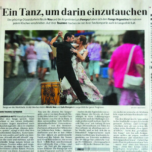Ein Tanz, um darin einzutauchen, TRheinische Post 2012