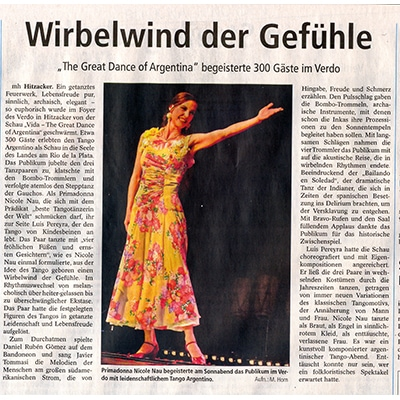 Ein getanztes Feuerwerk, mit Bravo Rufen dankte das Publikum, 2014