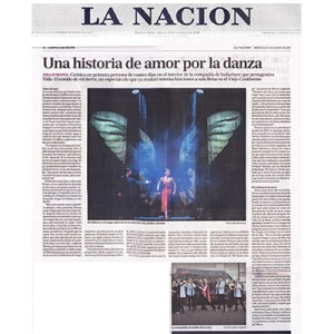 A love story for the dance. 70 shows to sold-out theaters. La Nacion, 2014