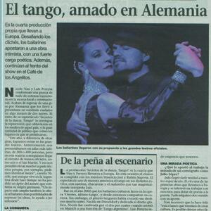 Eine Show, die klassische Linien durchbricht, La Prensa, Argentinien, 2007