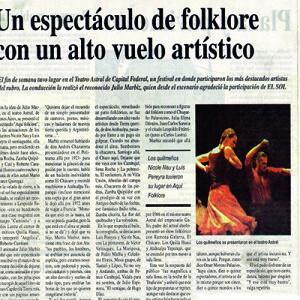 Eine Show mit hohem künstlerischen Wert, La Prensa 2011