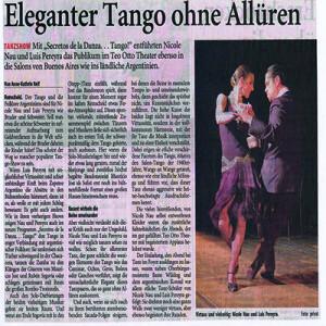 Eleganter Tango ohne Allüren, unglaubliche Virtuosität und schier unbändige Kraft, RGA 2007