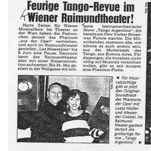 Fiery Tango Revue in Vienna Raymonde Theater