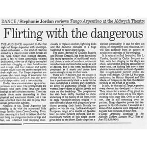 Flirt mit dem Gefährlichen, Aldwych Theatre, London