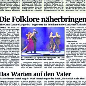Folklore näher bringen, sie begeistern in der Stadthalle, 2013