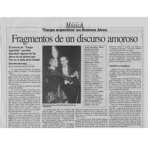 Fragments of a Lover's Discourse, Argentina