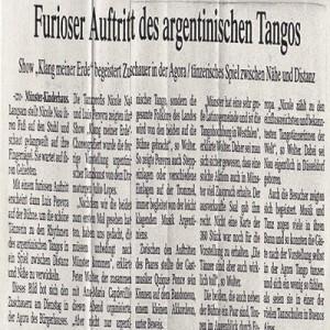 Presentación furiosa. El Sonido de mi Tierra entusiasma al público. Münster 2006