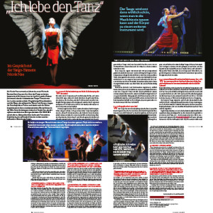 I live to dance visions, 2 double pages 2014