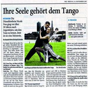 Ihre Seele gehört dem Tango, ein Portrait, WZ 2007