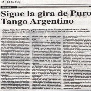 Sigue la gira a puro Tango