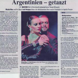In Düsseldorf aufgewachsene Tango Virtuosin, ein Portrait, 2007