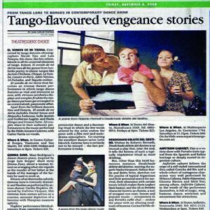 Intensive Theaterperformance mit brillianten Tänzern, Buenos Aires Herald 2008