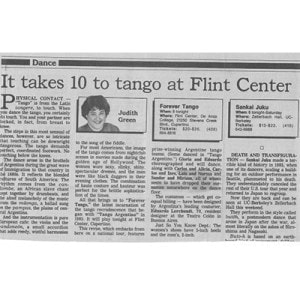 It takes 10 to tango at Flint Centre