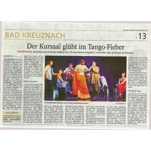 Kursaal glüht im Tangofieber. 100 Minuten Tempo, Welch ein Fest, 2014