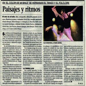 Landschaften und Rhythmus. Der Boden bebt. La Prensa 2008