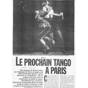 Le prochaine Tango a Paris, France