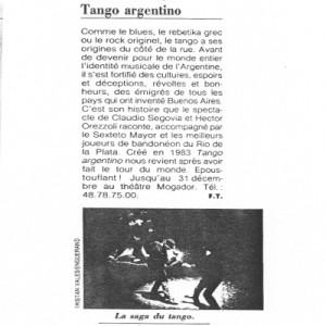 Le sage du Tango, Femme
