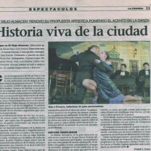 Lebendige Geschichte der Stadt, La Prensa, 2011