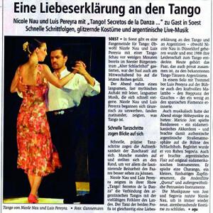 Liebeserklärung an den Tango, 2007